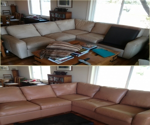 Refinish leather sofa